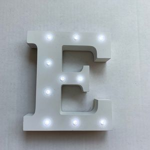 LED Light Up Stand Up Letter E Wall Decor